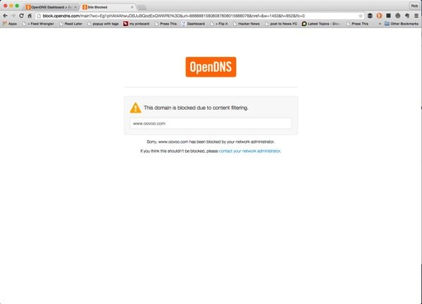 Website Filtering - Blocked Domain