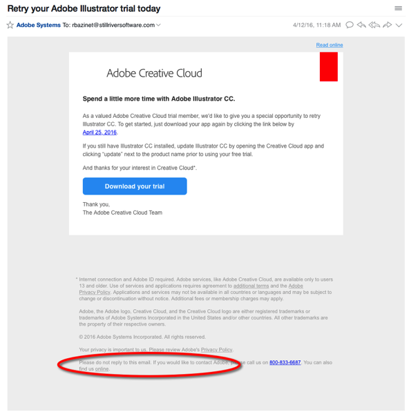 adobe customer service email